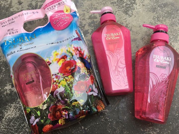 Bộ dầu gội xả Shiseido Tsubaki Oil Extra Smooth Shampoo & Conditioner
