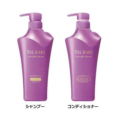 Bộ dầu gội Shiseido Tsubaki Volume Touch màu tím