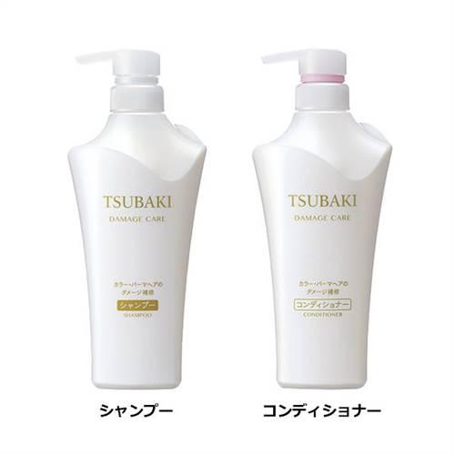 Bộ dầu gội Shiseido Tsubaki Damage Care màu trắng