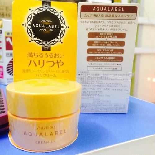 Kem dưỡng Shiseido Aqualabel Cream Ex màu vàng Nhật Bản