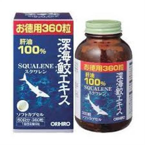 Dầu gan cá mập Squalene Orihiro 360 viên giảm mệt mỏi cơ thể