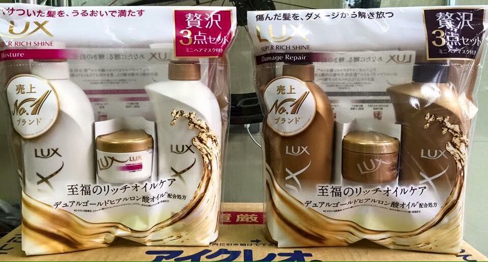 bộ dầu gội Lux set 3 của Nhật