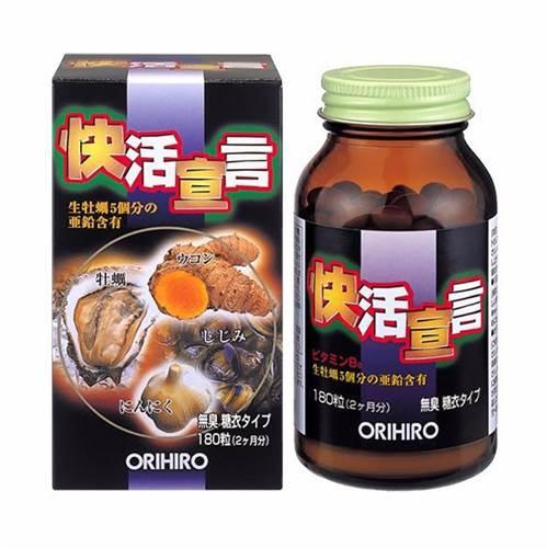 Tinh chất hàu tươi, tỏi, nghệ Orihiro - thải độc gan, bổ dương - 180 viên