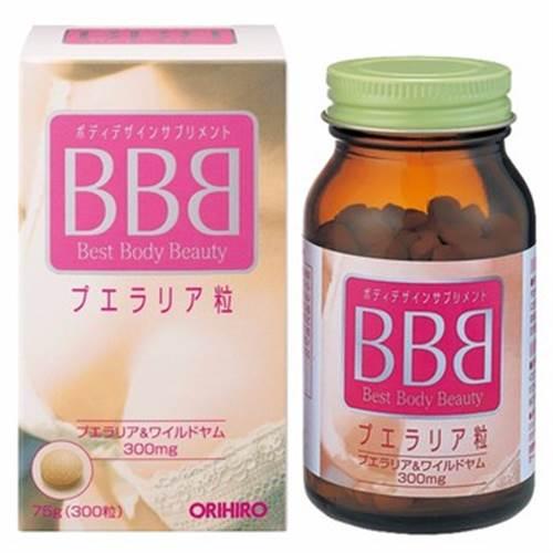 Viên uống nở ngực BBB Orihiro (Best Body Beauty) - 300 viên Nhật Bản