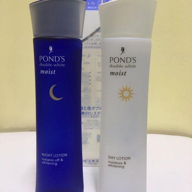 Bộ nước hoa hồng dưỡng trắng da ngày và đêm Pond's double white lotion