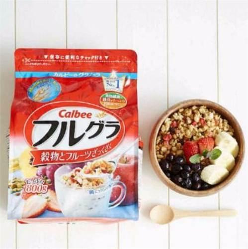 Ngũ cốc trái cây sấy khô Calbee 800gr Nhật Bản