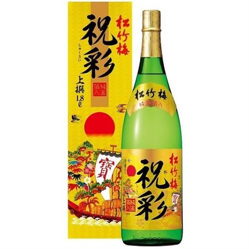 Rượu sake vảy vàng Takara Shozu mặt trời đỏ 1,8 lít