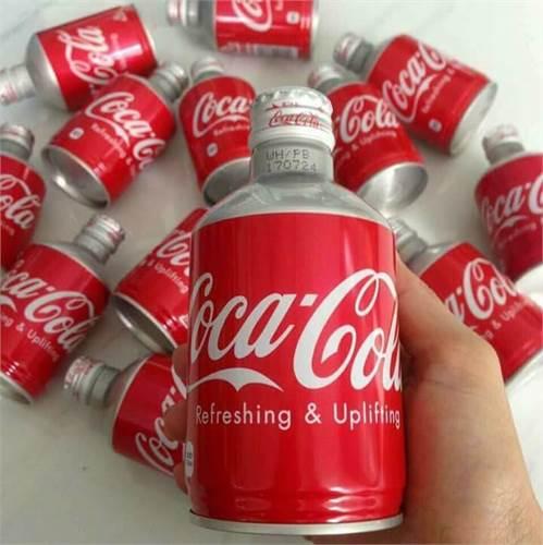 Coca Cola Nhật chai nhôm nắp vặn 300ml