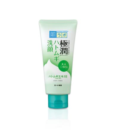 Sữa rửa mặt Hada Labo Gokujyun Face Wash tuýp màu xanh